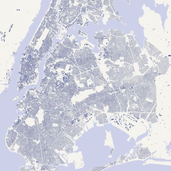abc collection_New York, map (Blue)