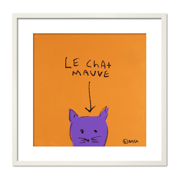 Brian Nash_LE CHAT MAUVE