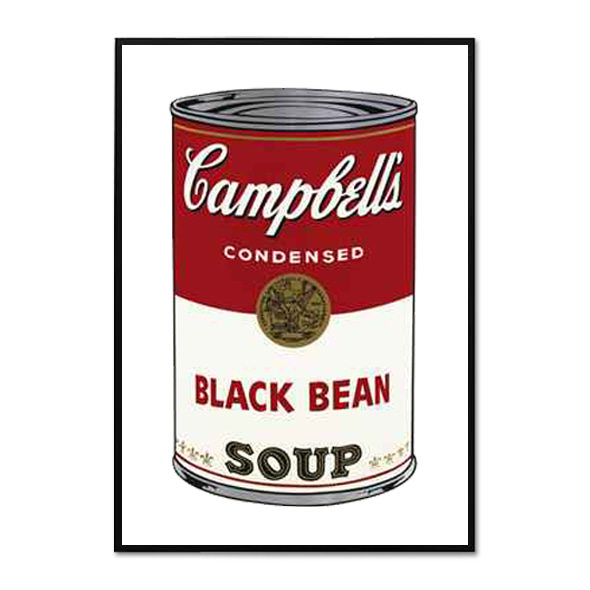 Andy Warhol_CAMPBELL'S SOUP I_BLACK BEAN, 1968